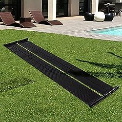 Blitzzauber24 Calentador solar de agua para piscina 300cmx70cm negro