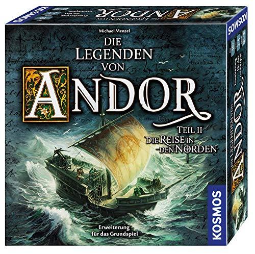 """KOSMOS 692346 Die Legenden von Andor - Teil II Die Reise in den Norden, Erweiterung für das Grundspiel \""""Die Legenden von Andor\"""", ab 10 Jahren, Fantasy-Brettspiel"""
