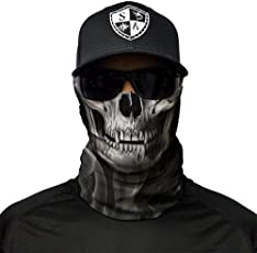 SA Fishing Company Face Shield Sturmhaube *viele verschiedene Designs* Multiunktionstuch Maske Fishing Totenkopf Schal Skull Bandana Gesichtsmaske Halstuch Ski Motorrad Paintball Halloween Maske