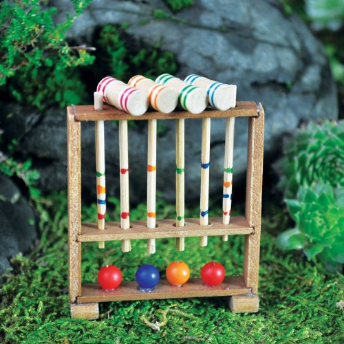 Georgetown Home & Garden Fairy Garden Miniature Croquet Set