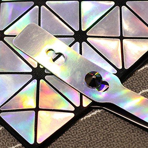 Borsa Laser Femmina Geometrica Sequined Borsa A Tracolla Borsa Nuova Due Signora Borsa Messenger LaserSilver