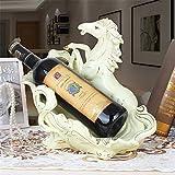 LL-COEUR Ton Pferde Weinflaschenhalter Dekoration Weinregal Kreative Weinständer Handwerk Wein-Rahmen Weihnachten
