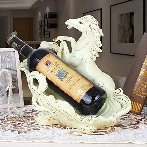 LL-COEUR Ton Pferde Weinflaschenhalter Dekoration Weinregal Kreative Weinständer Handwerk...