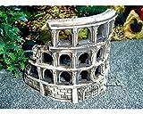 Deko Aquarium Arena Höhle Fische Keramik Dekoration Koloseum römische Ruine Neu