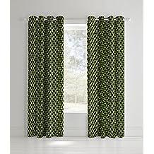 Catherine Lansfield Rich de fútbol de neón cortinas 66x 72, poliéster,., Amarillo, 183x 168x 0,4cm