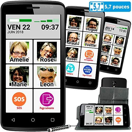 Mobiho-Essentiel Le SMART PHOTO CONTACT 5,5 pouces. L'interface senior sur mesure avec 9 photos...