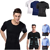 Secondskin Men's Shaper Cooling T-Shirt Suitable for Sports and Fitness Running, Skipping Rope, Gym Workout