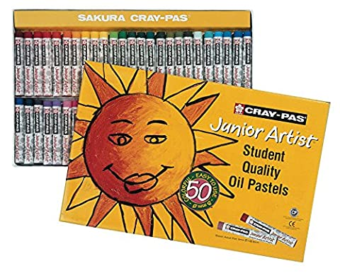 Sakura Cray-Pas Junior Artist Oil Pastels-50/Pkg, Other, Multicoloured