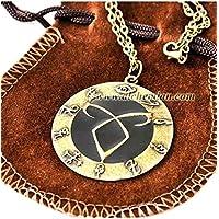Medaglione delle rune, collana in metallo nichel free 4cm, Shadowhunters