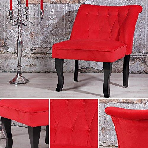 Polstersessel Barockstil Rot Wohnzimmer Relaxsessel Fernsehsessel TV-Sessel