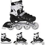 Nils Inlineskates rolschaatsen schaatsen # 4-in-1 verstelbaar inline skates ijs sport hockey meisjes & jongens & dames NH1090