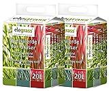 Floragard Elegrass Spezialerde für Gräser 2x20 L • erstklassige Qualitätserde • zum Pflanzen von hochwertigen Ziergräsern und Farnen • mit hochwertigem Mehrnährstoffdünger • 40 L