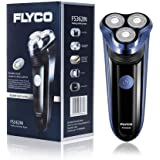 FLYCO FS362IN Electric Shaver for Men, Rechargeable 3 Blade Wet & Dry Razor with Pop Up Trimmer, Waterproof, Cordless…