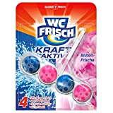 WC Frisch Blüten-Frische, Kraft-Aktiv Duftspüler, 10er Pack (10 x 1 Stück)