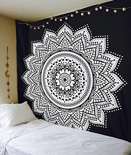 Esclusivo 'nero bianco ombre Tapestry by Raajsee' ombre biancheria da letto, motivo:...