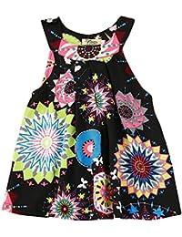 dcfdde5a8 Covermason Bebé Niñas Sin Mangas Multicolor Impresión Vestidos