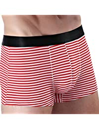Zhuhaitf Mens adolescentes Soft Breathable Stripe Low Rise Running Hotspring Surfing Gym Trunks Bañador Boxer Shorts