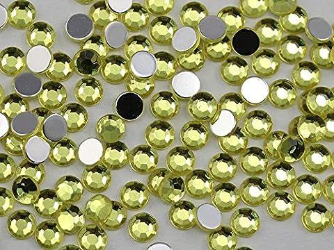 3mm ss12Jaune Jonquil A12Peinture acrylique strass pour visage, sans plomb. De haute qualité Qualité Pro–200Pièces