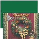 Masterpiece Studios Peace On Earth Wreath, 18 Cards/18 Envelopes (887300)