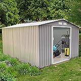 Concept-Usine Sancy 8.84 m² : abri de jardin en metal anti-corrosion gris