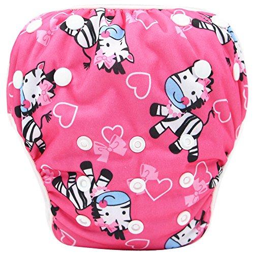 Topgrowth cover pannolini lavabili neonato bambini riutilizzabili costumi da bagno carino stampato pantaloni da nuoto per 0-3 anni (18)