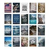 VISUAL STATEMENTS Postkartenset Mutausbruch; mit 20 Postkarten - Karten mit verschiedenen Sprüchen; schöne Spruchkarten im Set; hübsche Motivkarten - Postkarten in XXL – eine schöne Geschenkidee