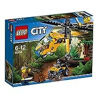 Lego 60158Vola nella giungla di LEGO® City per scoprirne i segreti nascosti! Carica il fuoristrada sull'elicottero, trasportalo nella giungla e depositalo a terra con il verricello. Parti per trovare il tempio nascosto, ma fai attenzione all'enorme r...