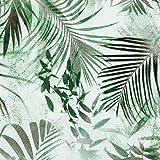 20 Servietten Palmenblätter dezent / Pflanzen / Natur 33x33cm