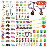 Funnism - 50 uova a sorpresa, 6 cm, colorate, in plastica, con 25 tipi di giocattoli popolari
