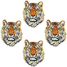 4pcs personalidad Super Cool DIY hierro en la ropa parches adhesivos de animales tigre parches para