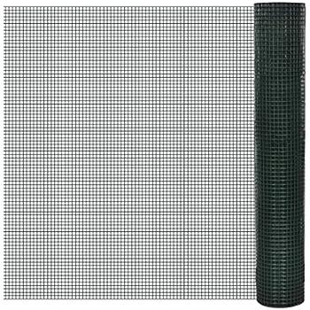 vidaXL Grillage plastifié à mailles carrées 1m x 10 m,mailles 19 mm