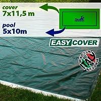 Telo di copertura invernale per piscina 5 X 10 mt