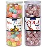 Madhu Premium Candy Mix Fruit/Cola CAN 230gms Each   कँडी मिक्स फ्रूट / कोला, মিছরি মিশ্রিত ফল / কোলা, కాండీ మిక్స్ ఫ్రూట్ /