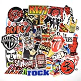 makstore 52 Stücke Band Rock Punk Aufkleber für Laptop Autos Motorrad Fahrrad Graffiti Patches Skateboard, Musik Stickers wasserdicht