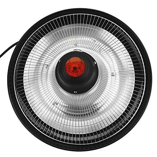 PrimeMatik – Decke Heizung Heizkörper für Innen und Außen Bar Restaurant Terrasse 425mm 1500W mit Fernbedienung - 2