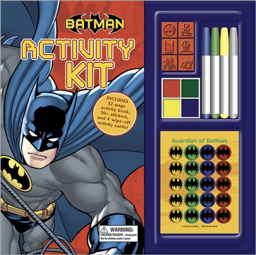 Batman Activity Kit [With 50+ Stickers and 4 Wipe-Off Activity Cards and 4-Color Stamp Pad and 6 Rubber Stamps and Spin -