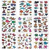 SouthStar Tatuajes Temporales para Niños Niñas, 9 Hojas Dibujos Animados Animales Perfecto para piñata Niños Infantiles Fiesta de Cumpleaños Regalo Bolsas Relleno