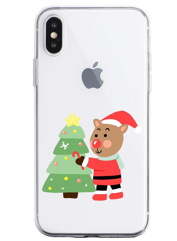 Oihxse Case Compatible con Huawei Honor 20 Pro Funda Transparente Silicona Suave Carcasa Protectora Navidad Santa Deer… 1