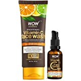 WOW Skin Science Vitamin C Face Wash Tube with 20% Vitamin C Face Serum Combo - Net Vol 130mL