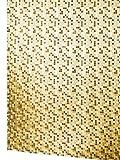 Lashuma Vinyl Duschvorhang 180x200 cm mit Ringen MOSAICO Transparent mit Karomuster in Beige, Badewannenvorhang Durchsichtig