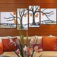 ZZZSYZXL Semplici dipinti in rilievo mano-dimensionale 4pcs divano in pelle soggiorno sfondo pittura decorativa