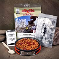 Beyond The Beaten Track Unisex's Ready Hot Meal Kit Chilli Con Carne with Rice (df), Silver, Medium 12