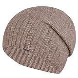Kamea Briana Beanie, Mütze für Frauen, Kopfbedeckung, warm, Nicht Gemustert, elegant, schön, Top Qualität, EU, Größe Uni, Beige