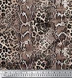 Soimoi Rosa Viskose Chiffon Stoff Leopard & Schlange