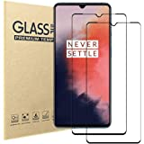 [2 Pack] Oneplus 7T Screen Protector,Full Coverage HD Tempered Glass Anti-Scratch 9H Hardness Tempered Glass Protective Film