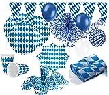 KPW XXL 71 Teile Bavaria Party Deko Set Oktoberfest für 10 Personen