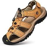 Unitysow Sandali Uomo Estivi All'aperto Antiscivolo Sportivi Escursionismo Trekking Sandals Cuoio Casuale Pescatore Punta Chi