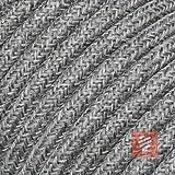 Textilkabel für Lampe, Stoffkabel 3-adrig (3x0,75mm²) - Meterware, Preis pro Meter