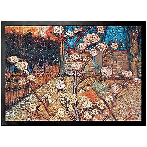 Vincent Van Gogh - Arbol De Pera En Flor, 1888, Detalle Felpudo Alfombrilla (70 x 50cm)