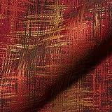 Stoff Polsterstoff Möbelstoff Bezugsstoff Meterware für Stühle, Eckbänke, etc. - Varese Rot Abstrakt - MUSTER